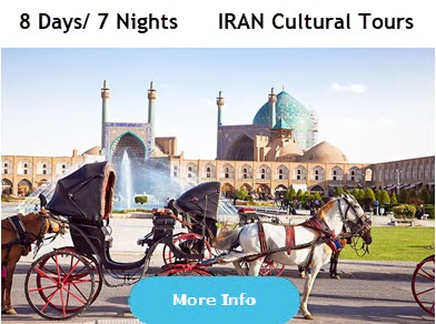 7 nights 8 days  Iran Cultural Tours