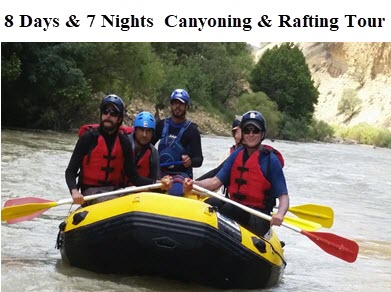 8 Days & 7 Nights Canyoning & Rafting Tour